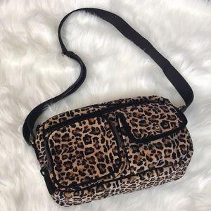 Sonia Rykiel fuzzy cheetah cross body bag